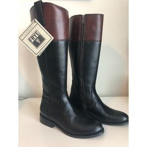 FRYE Jayden Button Tall Riding Boots (NWT)